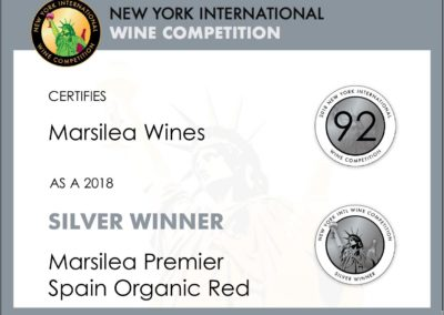 New York International Wine Competition 2018  Silver winer